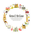 design with famous symbols great britain vector image vector image