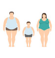 fat man woman and child vector image vector image