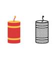 firecracker icon set pyrotechnics symbol vector image vector image