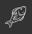 fish chalk icon cafe restaurant menu fish species vector image