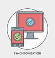 Flat design concept for Synchronization for vector image vector image