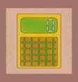 flat shading style icon electronic calculator vector image