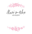 Flower pattern Wedding Birthday Handmade vector image