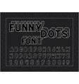 funny font alphabet vector image