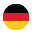 German flag vector image vector image