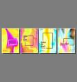gradient fluid poster set cool brochure vector image vector image