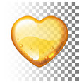 honey heart on transparent background vector image vector image
