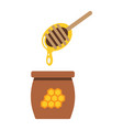 honey ladle flat icon food and drink beehive vector image