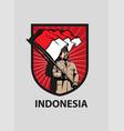indonesia merdeka vector image vector image