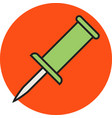 line filled icon vector image vector image