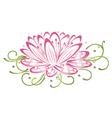 Lotus flower vector image vector image