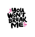 love me sticker vector image vector image