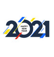 new year 2021 numbers with colored abstract shapes vector image vector image