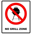 No bbq allowed - ban sign warning banner vector image vector image