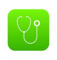 phonendoscope icon digital green vector image vector image