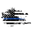 Police Support Grunge Flag vector image vector image