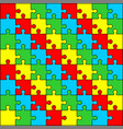puzzle pattern design vector image vector image