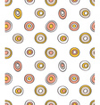 Retro seamless pattern geometric background Polka vector image vector image