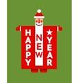 Santa Happy New Year Sign vector image vector image