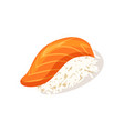 sashimi with salmon icon vector image vector image