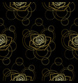 seamless pattern with gold rose and circles on vector image vector image