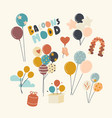 set icons with helium balloons different colors vector image vector image