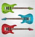 set of electric guitars vector image vector image