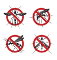 set of mosquito sign vector image