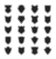 shield black heraldic guard shape icon set vector image