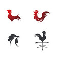 silhouette of the rooster icon vector image vector image