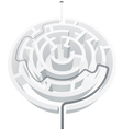 Simple white maze vector image