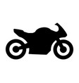 sportbike motorcycle bike or motorbike icon vector image