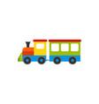 train batoy in flat design cartoon vector image