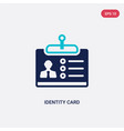 two color identity card icon from business vector image vector image