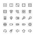 User Interface Colored Line Icons 13 vector image vector image