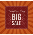 Valentines Day Big Sale dark red paper Sheet vector image vector image