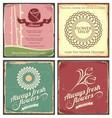 vintage set metal tin signs for flower shop vector image vector image