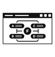 Web page management icon simple style