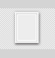 white picture or photo frame mockup vector image vector image