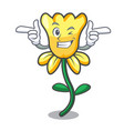 wink daffodil flower character cartoon vector image vector image