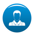 worker avatar icon blue vector image vector image