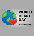 world heart day poster design vector image