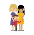 Lesbian family with kid Gay parenting vector image