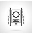 Phone video black line icon vector image