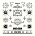 set of art deco retro vintage frame badge vector image