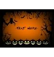 Frame halloween pumpkin vector image
