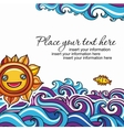 sun and waves vacation background vector image