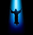 ascension of jesus christ vector image vector image