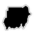 black silhouette of the country sudan with the vector image vector image