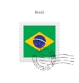 Brazil Flag Postage Stamp vector image vector image
